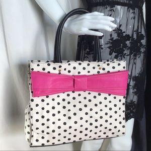 Betsy Johnson Polka Dot Bow Tote Bag